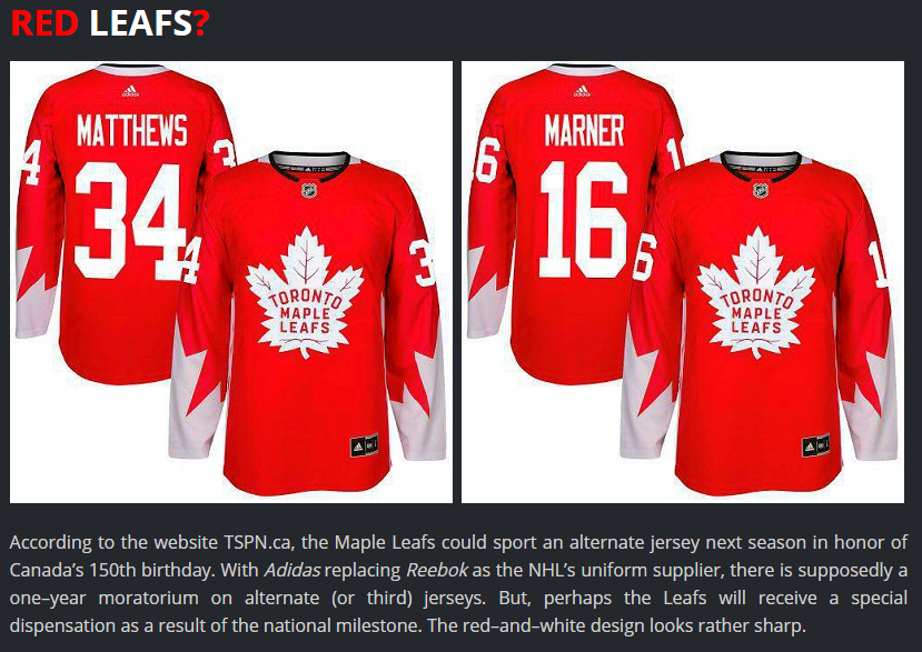 I have no idea why people think this will be the next Leafs jersey 3fd2ab7ac