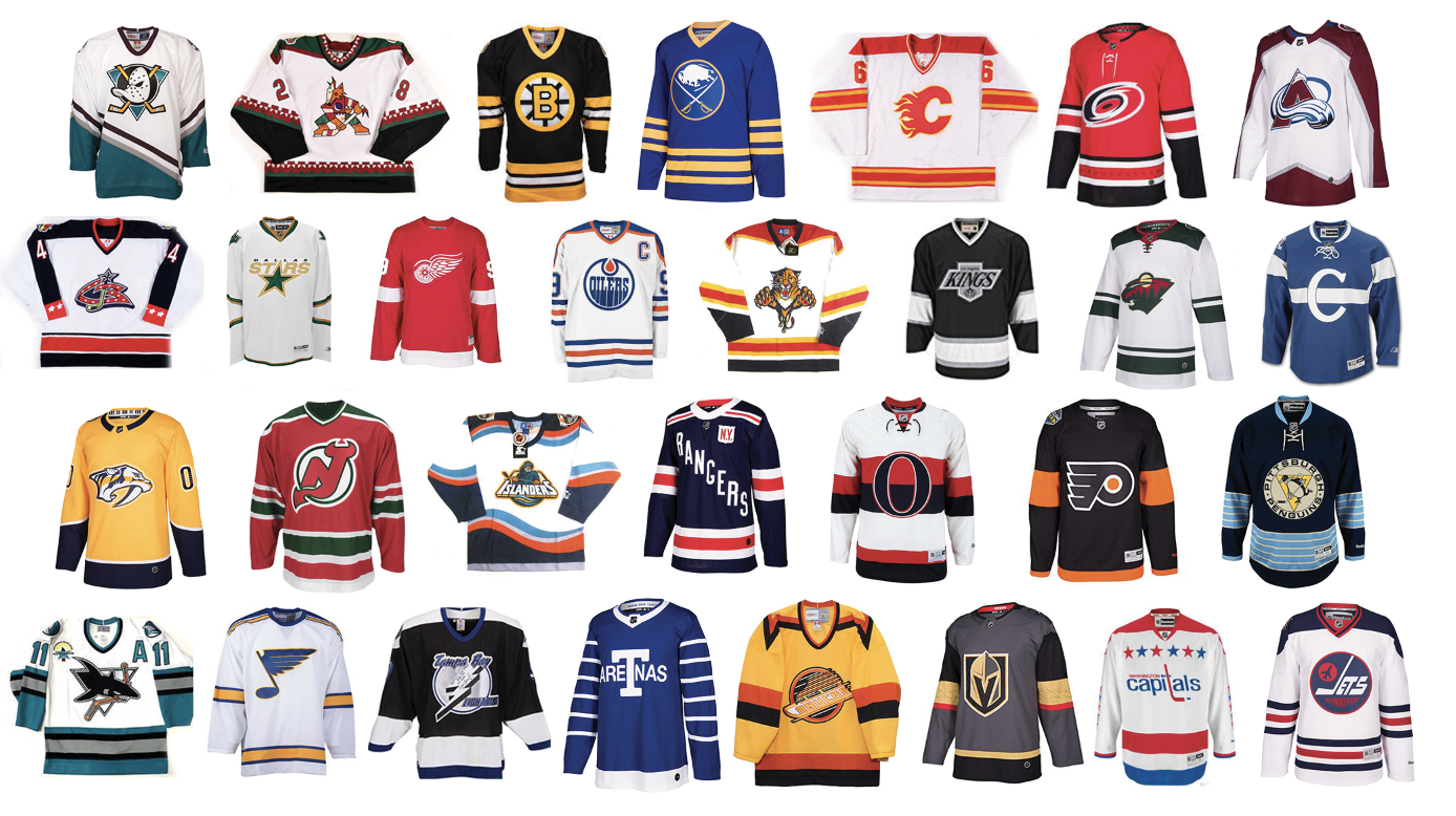 Behold the NHL at its very best. Every team is utilizing its best jersey of all  time as its primary uniform 053200aee